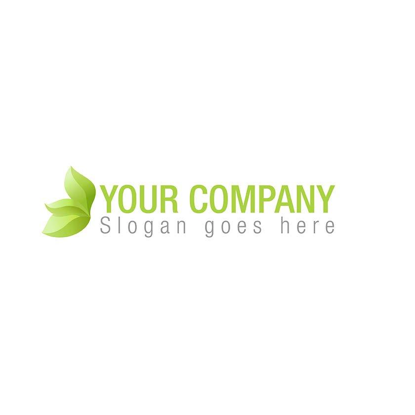 3d leaf logo