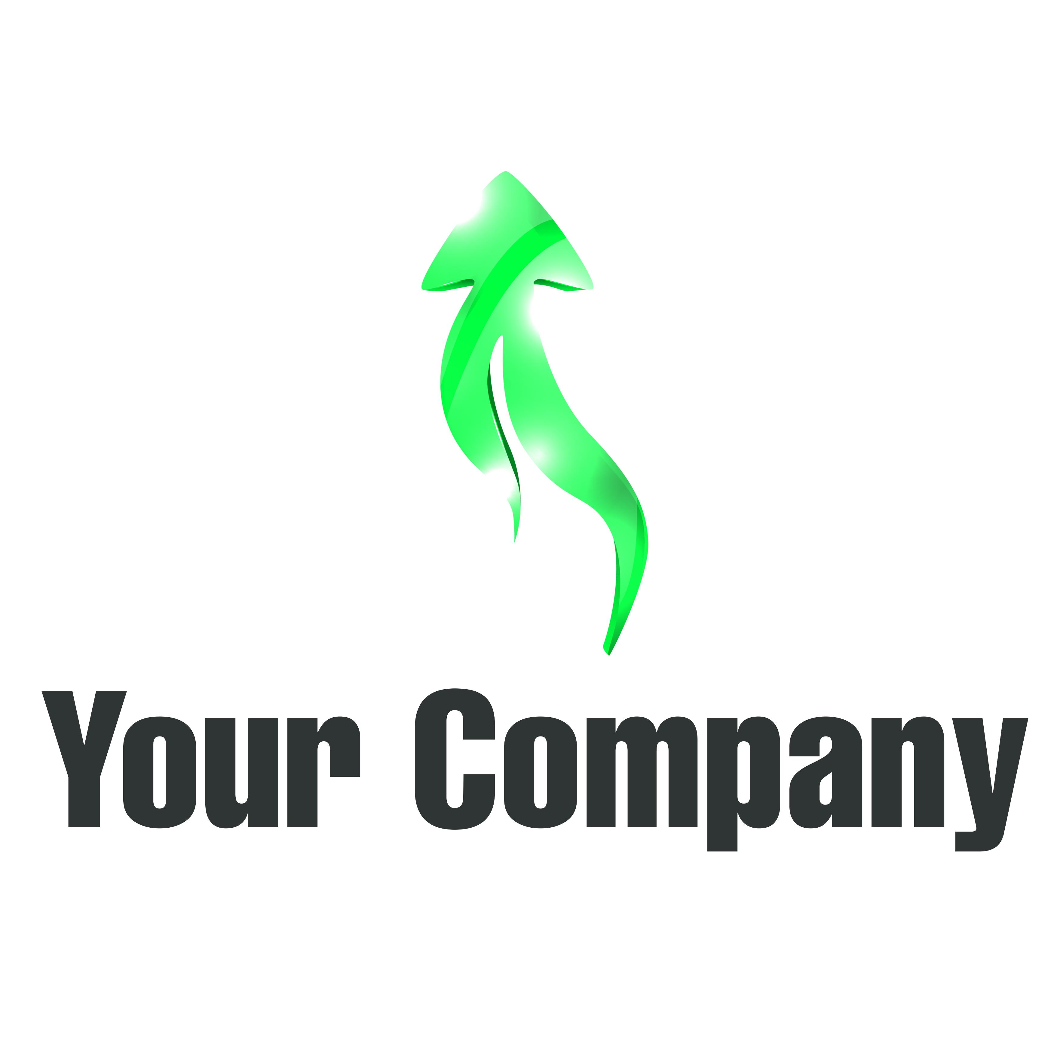 לוגו חץ ירוק | GreenArrowUp