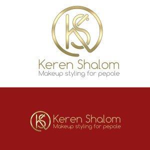 לוגו למאפרת Keren Shalom