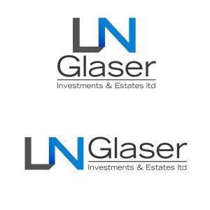 """לוגו חברת השקעות בנדל""""ן NL GLASER"""