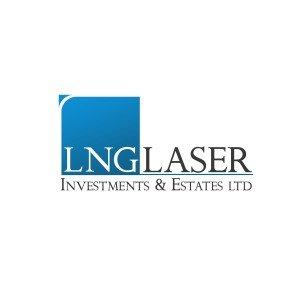 """לוגו חברת השקעות בנדל""""ן LNG LASER"""