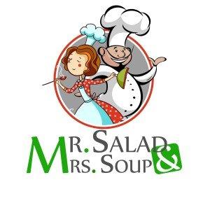 לוגו  MR SALAD AND MRS SOUP