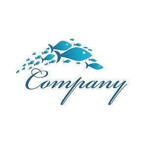 לוגו דגים | Fish company logo
