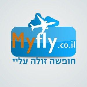 לוגו לאתר אינטרנט MYFLY