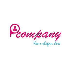 Person script logo