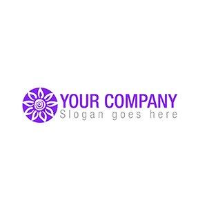 Purple sun logo