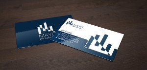 כרטיס ביקור כחול לבן
