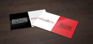 כרטיסי ביקור שני צבעים