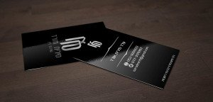 כרטיס ביקור שחור