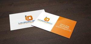 כרטיס ביקור לחברת אבטחה וניהול פרוייקטים
