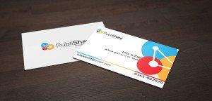 כרטיס ביקור צבעוני