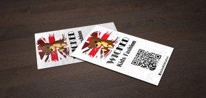 כרטיס ביקור עם QR